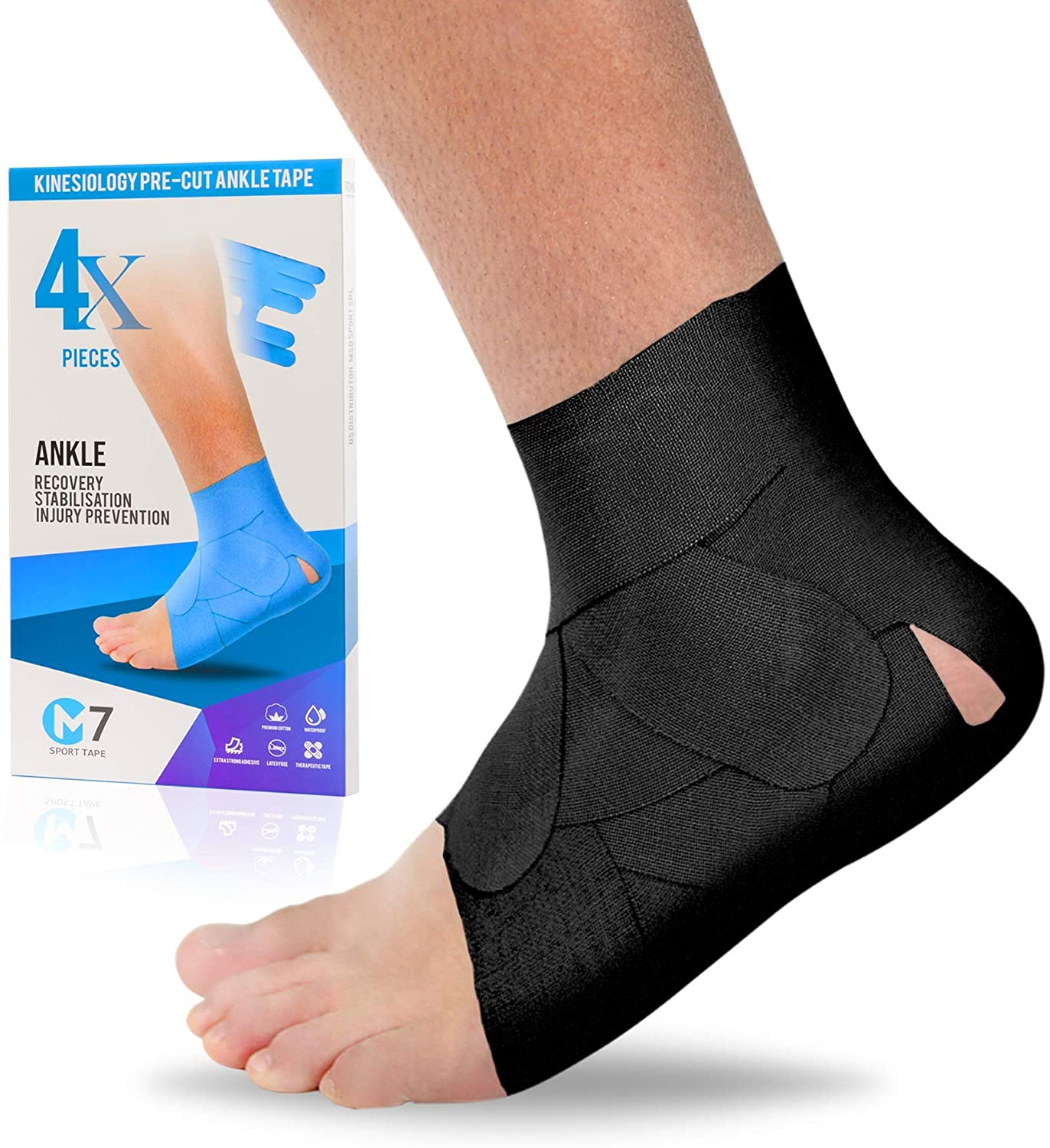 ankle tape black