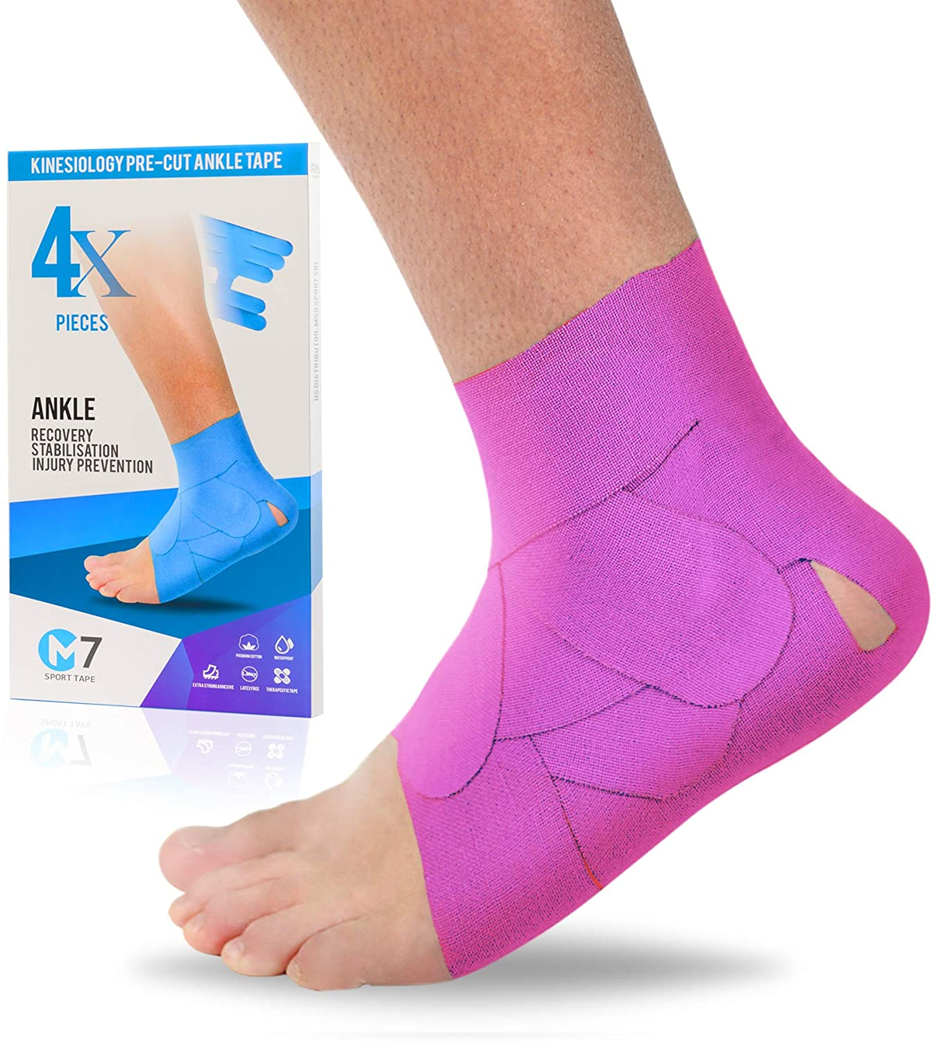 ankle tape pink